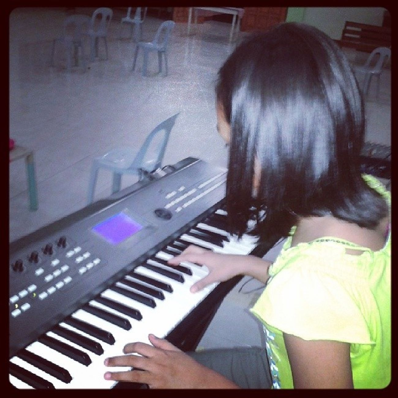 She wants to be a church's keyboardist someday ..and she wants me to be her mentor .. PraiseGod ! WithGodNothingisimpossible