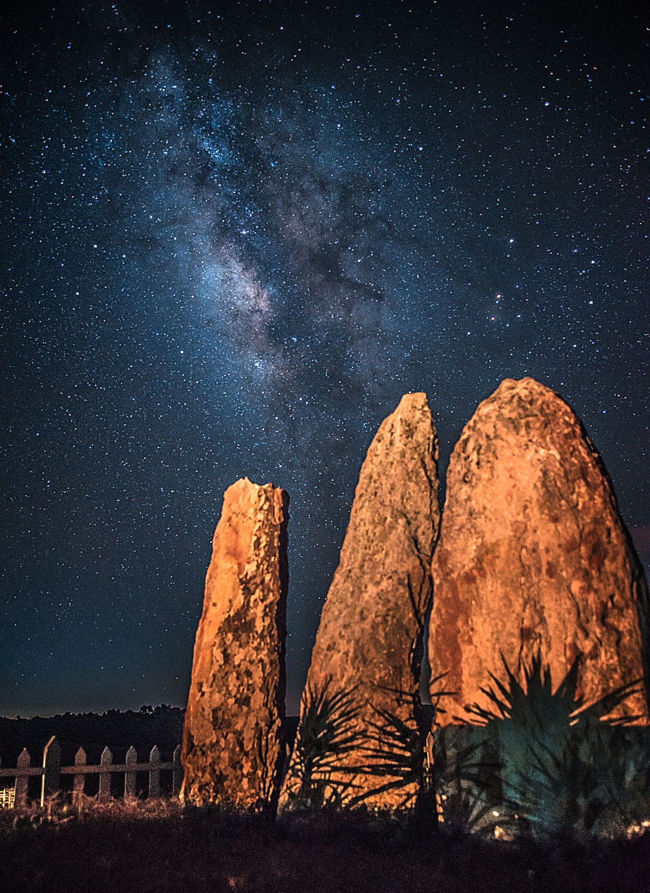 Symbol of Remembrance (Monoliths) Astronomy Beauty In Nature Milky Way Nature Night Outdoors Rock Formation Sky Space And Astronomy Star - Space