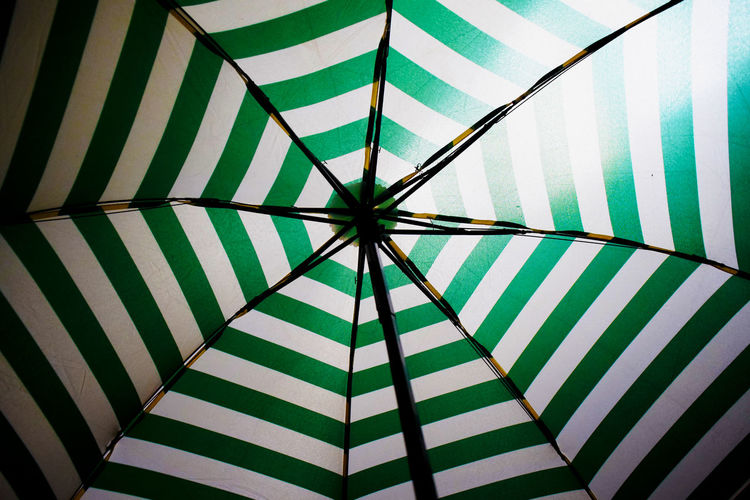 Backgrounds Close-up Day EyeEm Best Shots EyeEm Gallery Eyeem Market Eyeem Philippines Full Frame Green Indoors  Low Angle View No People Pattern Shelter Striped Symmetry Umbrella Web Neon Life