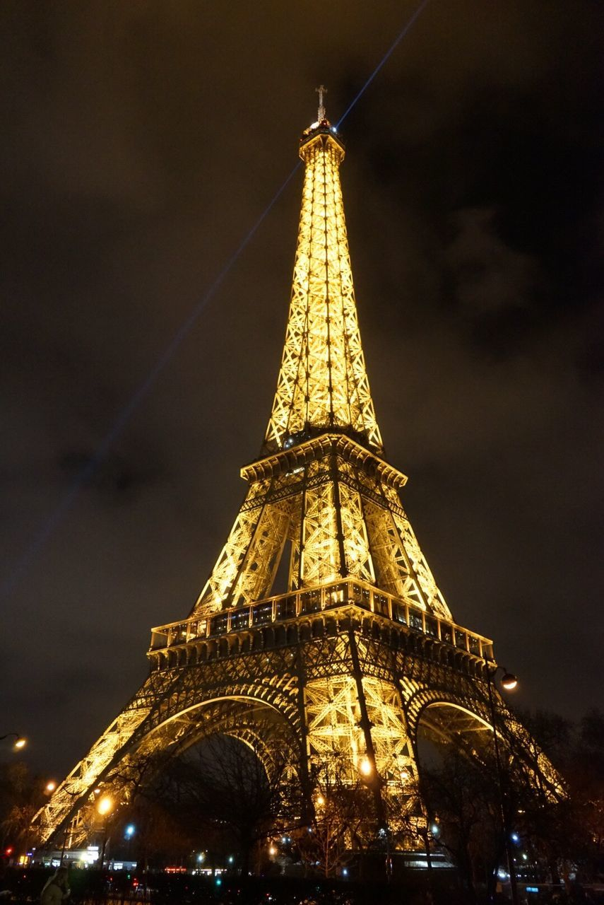 architecture, tower, tall - high, religion, built structure, building exterior, travel destinations, illuminated, low angle view, night, spirituality, place of worship, gold colored, tourism, no people, city, outdoors, sky