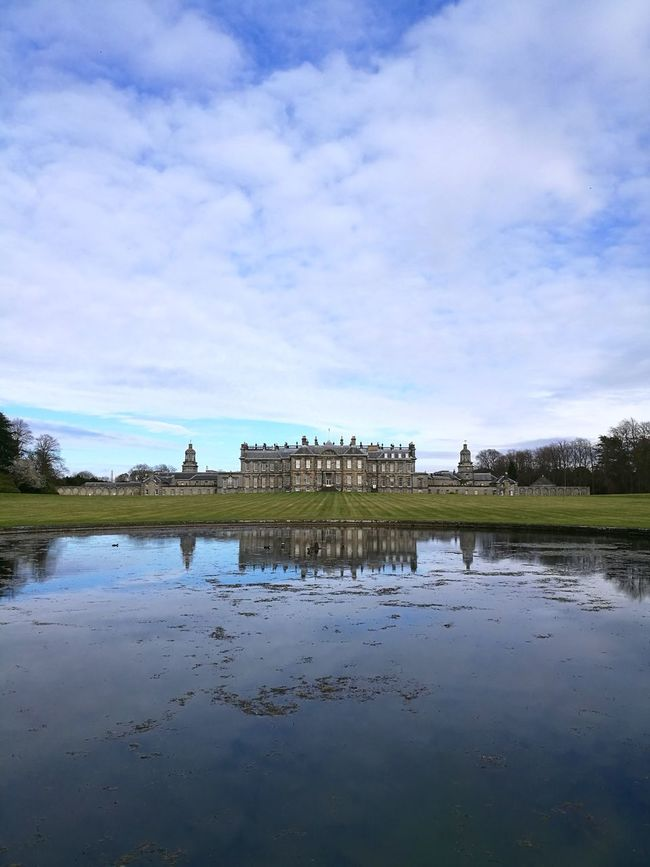 Hopetoun House. Reflection Rural Scene Water Nature Tranquility Outdoors Day No People Grass Stately Home Stately Hopetoun House Mansion Mansion House Gardens Scotland South Queensferry Huawei P9 Leica