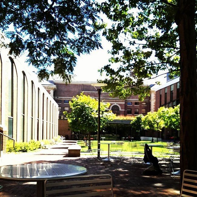 A beautiful day at Pennlaw to study some civil procedure. Pennlawlife Upenn