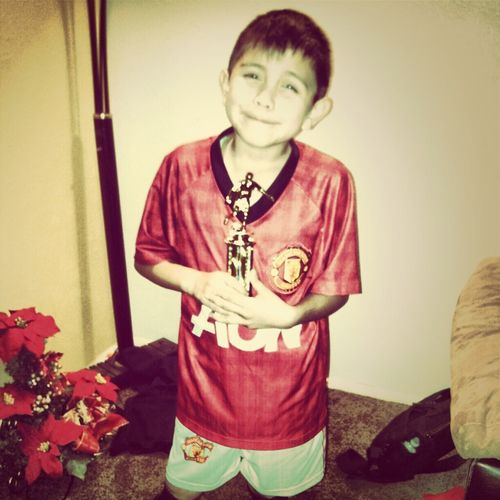 First Place In Soccer '!(: Lil Bro Did Good