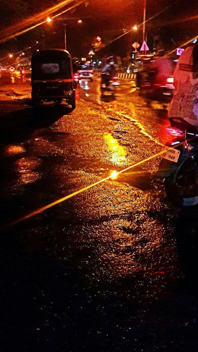 Urbanphotography City Street City Lights Night Photography Urbanlife My City At Night My Mumbai Rocks!!!