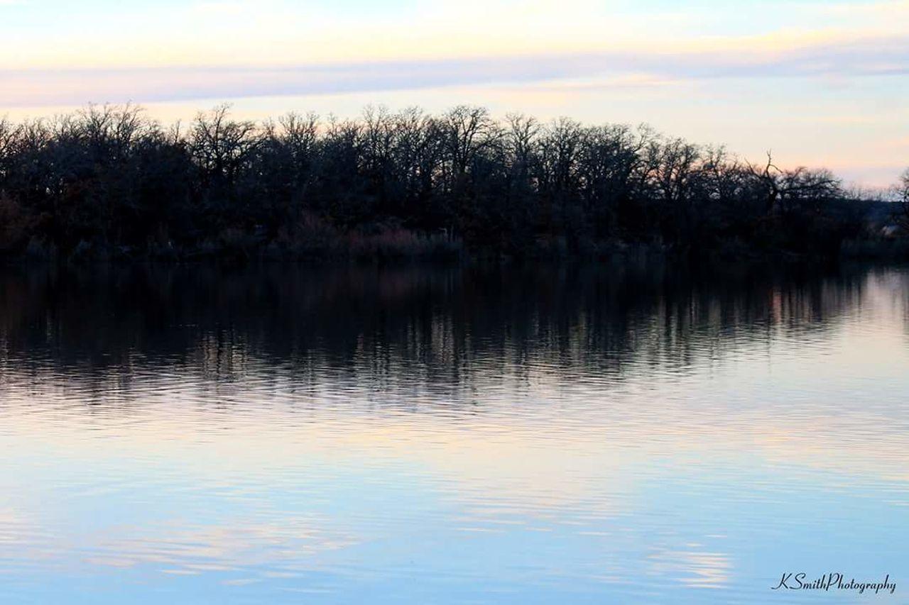 Lake Reflection Water Sunset