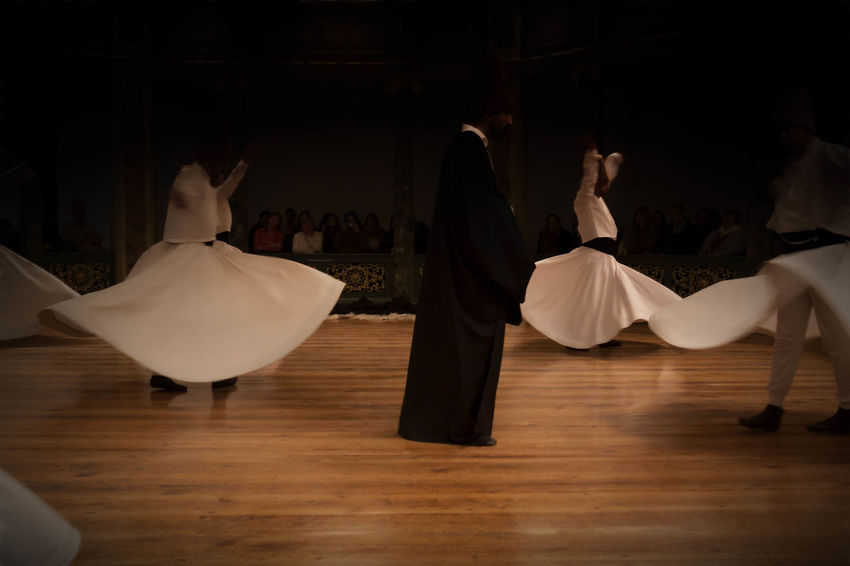 Dervish Dancers Absence Chant Day Dervish Dervish Dance Domestic Room Empty Furniture Hardwood Floor Istanbul Turkey Lifestyles Relaxation Religious  Religious Ceremony Spinning Spinning Around Spirituality Sufi Sufism Tradition Traditional Clothing Traditional Culture Wood - Material