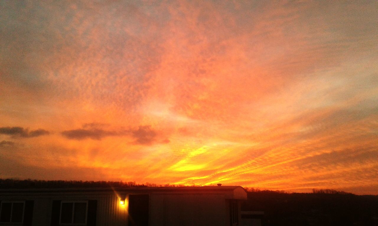 Solstice Aflame Orange Color Sunrise Dramatic Sky Cloud - Sky Sky Outdoors Nature No People Beauty In Nature Low Angle View Pennsylvania Beauty Pennslyvania Winter Winter Solstice