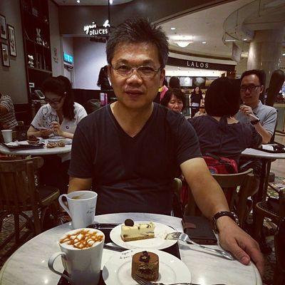 我和爸爸的下午茶時光