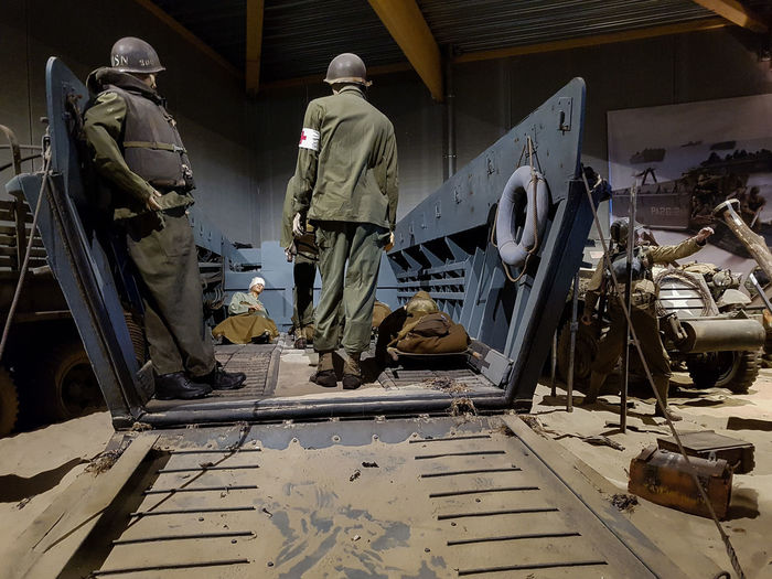 Overlord Museum, Colleville-sur-mer, Normandy, France, July 2017 D-Day Injured Operation Overlord Overlord Museum Soldiers American Soldiers Education Exhibition Exhibits History Museum Overlord Paramedics