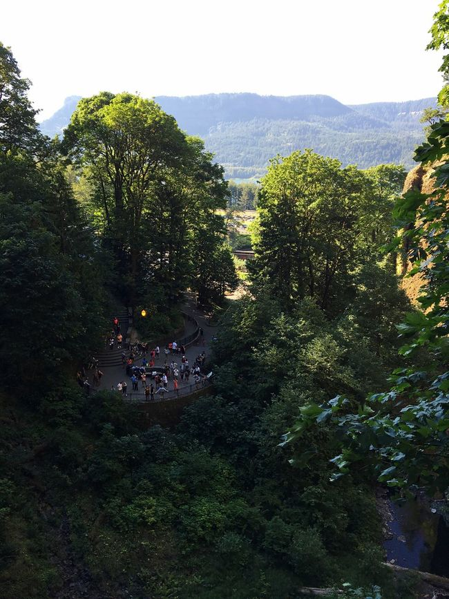 Tourism High Angle View Travel Destinations Green Nature Beauty In Nature Oregon Multnomah Falls  Birdseyeview