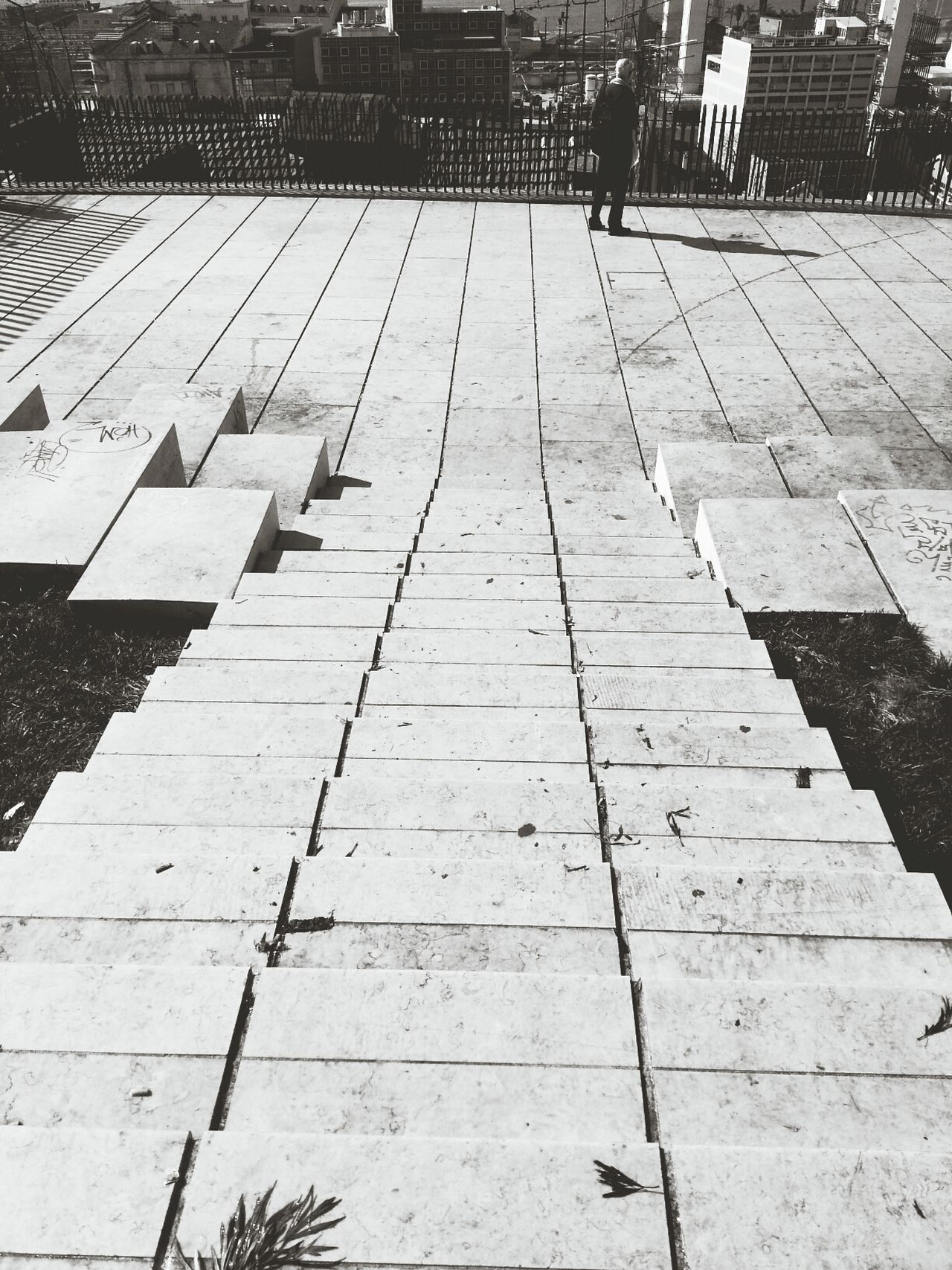 Walking Around Enjoying The Sun Monochrome Black And White