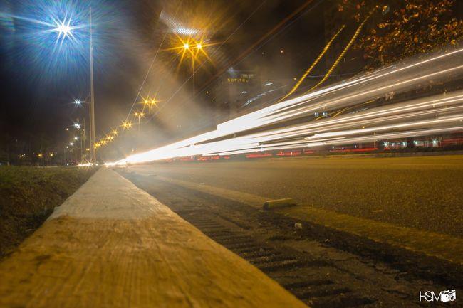 Overnight Success Long Exposure Motion Illuminated Light Trail Speed Blurred Motion Transportation Night Road Street City Life Lens Flare Tail Light Outdoors The Way Forward Journey