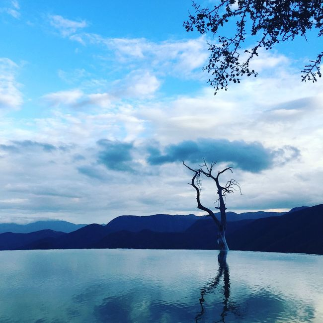Nature Nature_collection Infinity Pool Mexico Oaxaca Heirve el Agua Blue Water Water_collection Water Reflections Mybestphoto2015