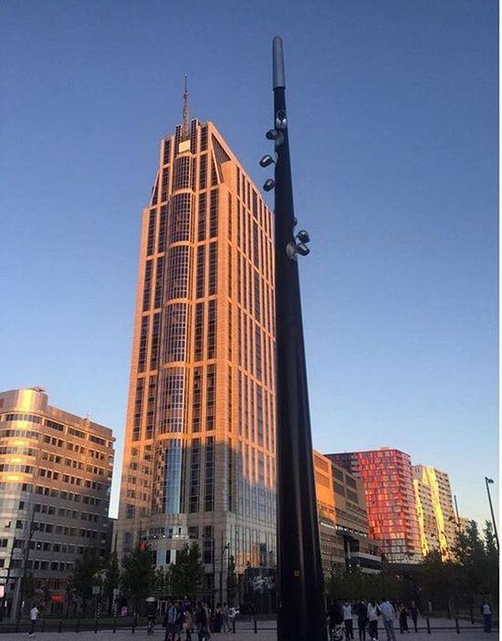 Architecture Skyscraper Modern City Day Rotterdam