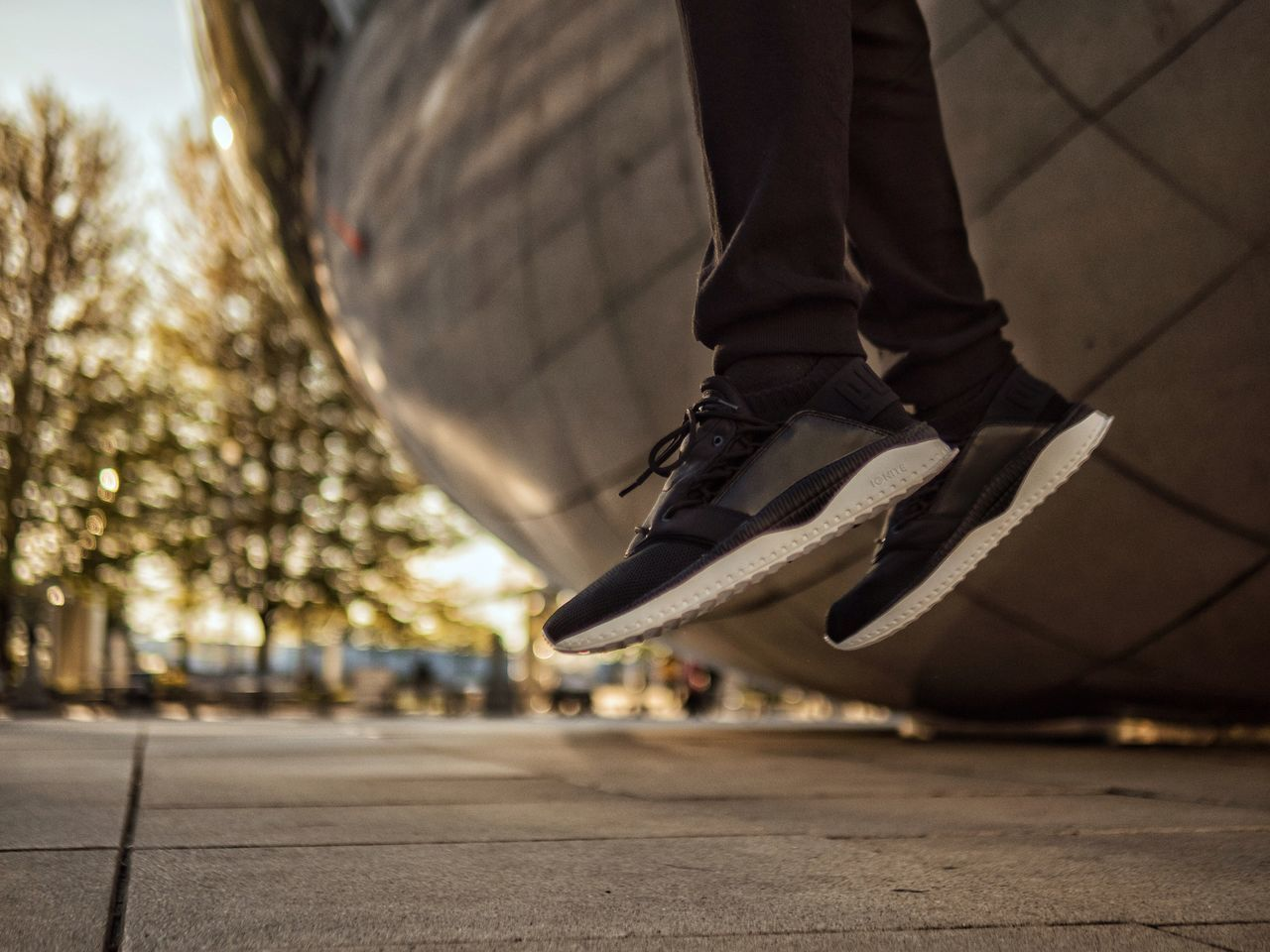 Low Section Human Leg Shoe Lifestyles Beangames Urban Geometry Levitation Chicago Bokeh Bokeh Photography EyeEm Best Shots Architecture Out Of The Box