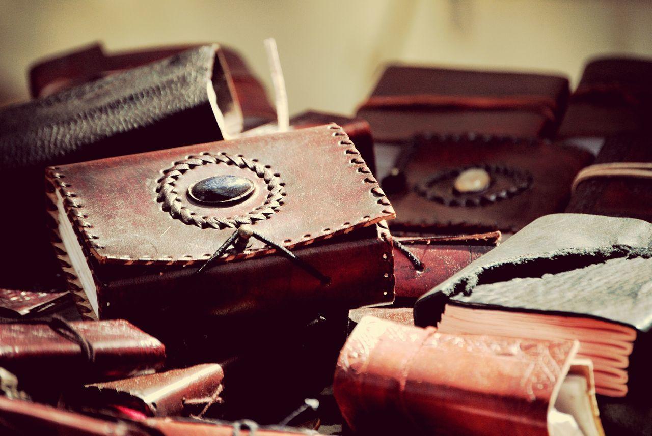 Depth Of Field Books Brown Leather Handmade Journals Market