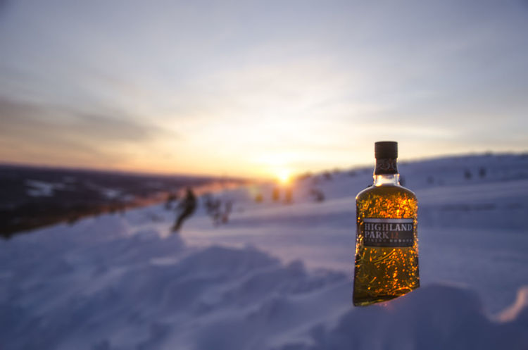 Sunrise. Whisky Whiskyviewhunting HighlandPark Movement Skiing EyeEm Selects Bottle Sunset Cold Temperature Winter Dusk Alcohol Wine Sky Backgrounds No People Nature Outdoors Freshness Close-up Food Stories Shades Of Winter Business Stories