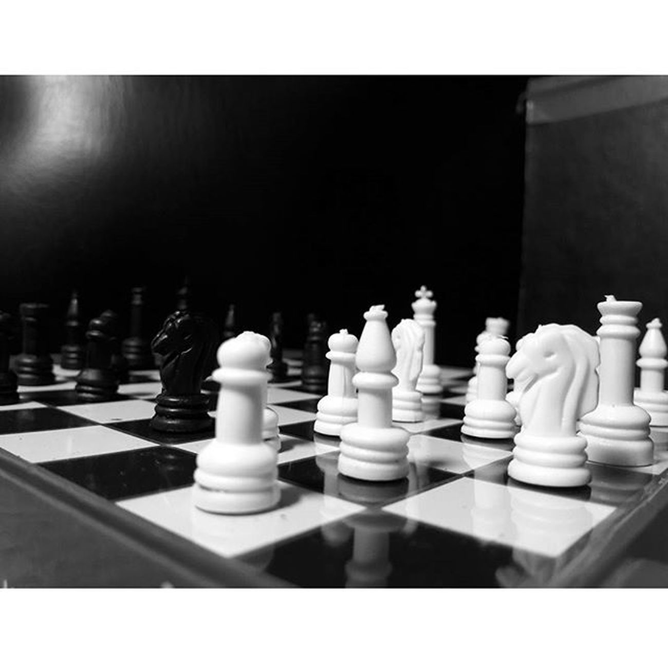 -Life is like a game,changing with each move. Instamood Instapic Photography Blackandwhite Chess Snapspeed Igersmauritius