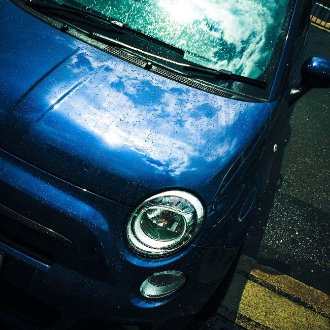 ドライブ、通り雨の後 Fiat500 Rain Clouds And Sky Enjoying Life
