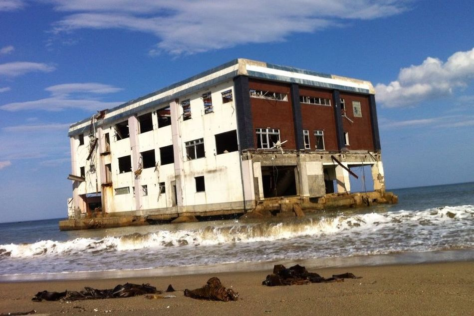 March 11 Japan Tohoku Building Ocean Wave Sky Sand Tsunami Tsunami Disaster
