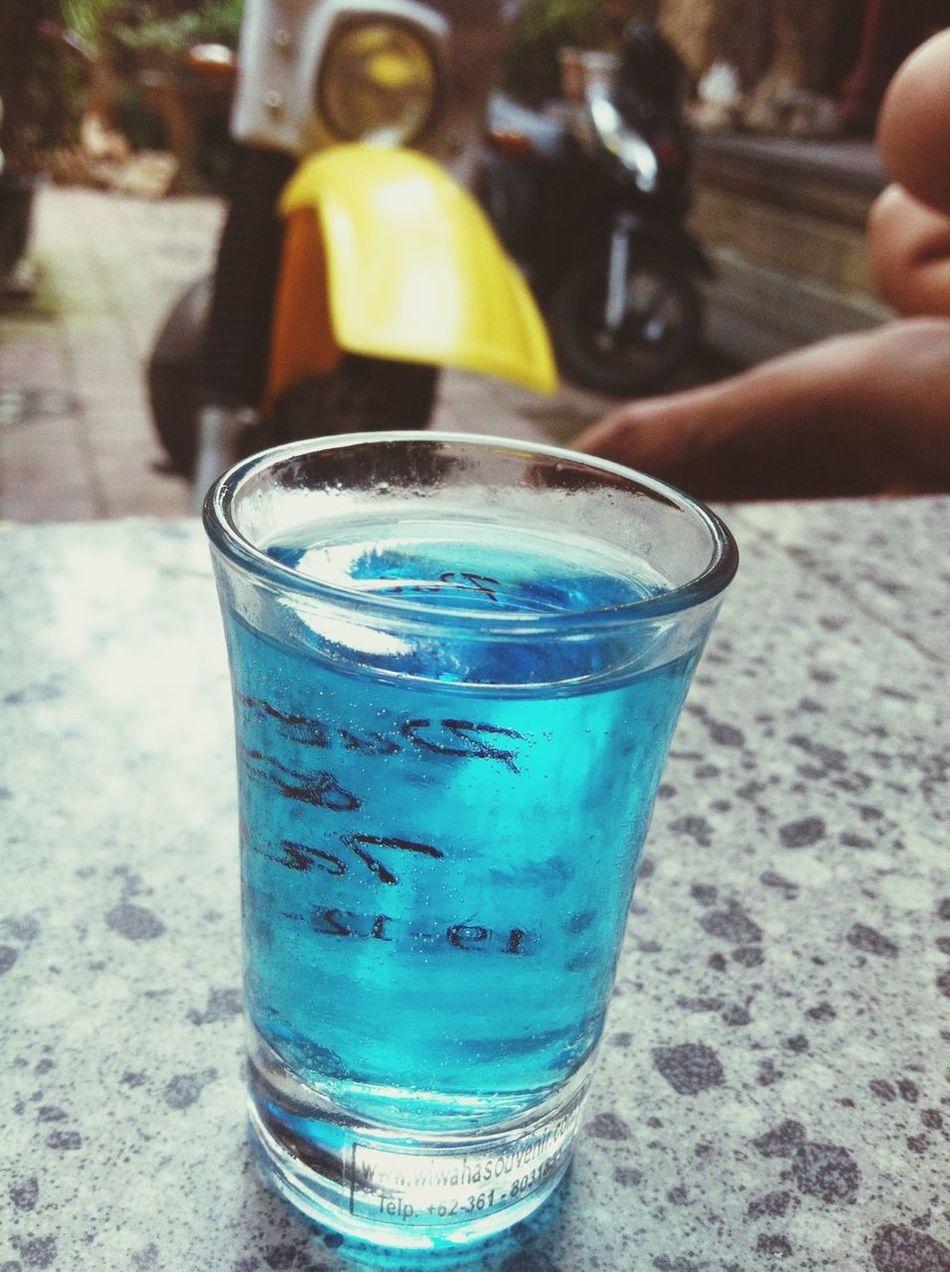 blue fresh drink nice