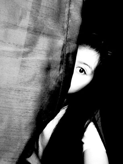 Let's play hide and seek. Hiding From The World In The Dark First Eyeem Photo Black And White Darkness And Light