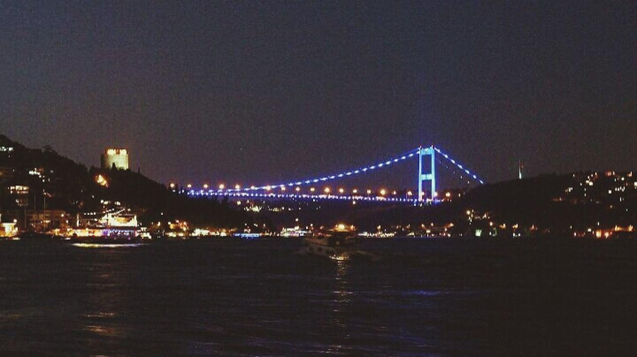 Bosporusistanbul Bosphorus Bridge Bosphorus Night