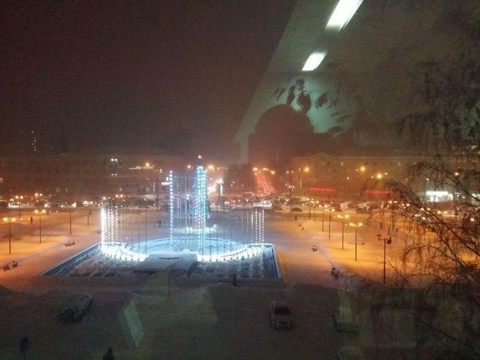 Вечерний Новосибирск Night Illuminated Water No People Outdoors City Architecture