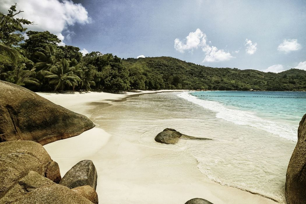Anse Lazio, Praslin, Seychelles Anse Lazio Beach Beauty In Nature Cloud - Sky Day Nature Nature Photography Nature_collection No People Outdoors Praslin Sand Scenics Seychelles Sky Tranquil Scene Tranquility Travel Destinations Travel Photography Tree Vacations Water