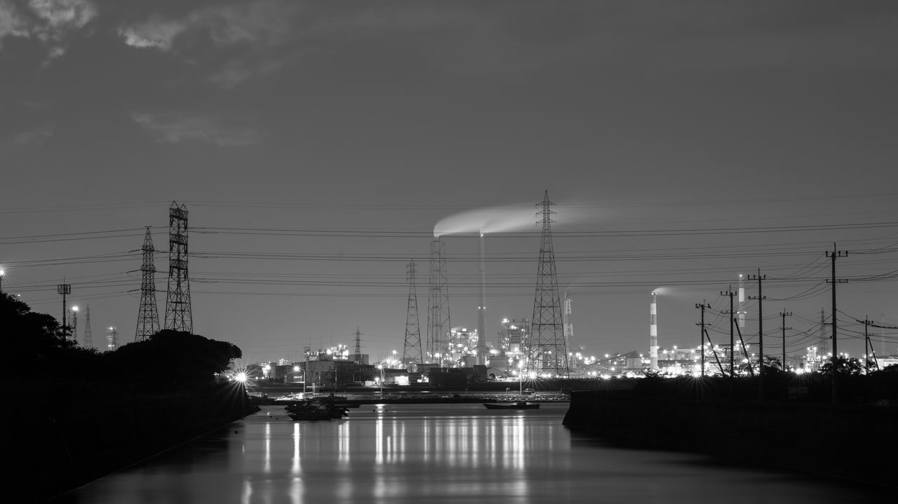 City Life Factory Factory Night View Factory Zone Industrial Industrial Landscapes Industrial Photography Night Nightphotography Reflection Sea Water Waterfront
