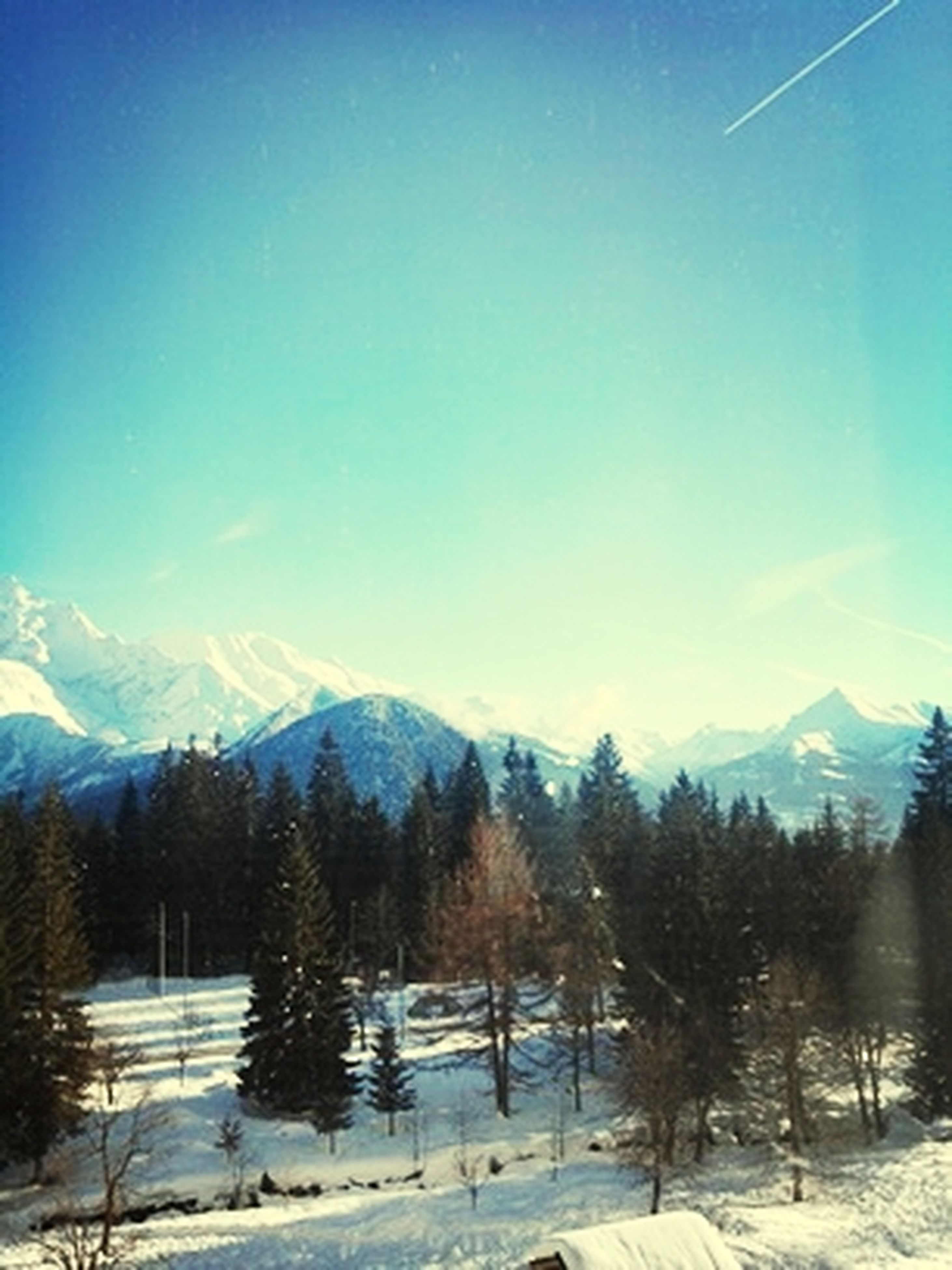 snow, winter, cold temperature, season, mountain, tranquil scene, tranquility, landscape, weather, scenics, beauty in nature, clear sky, snowcapped mountain, covering, mountain range, nature, blue, tree, non-urban scene, frozen