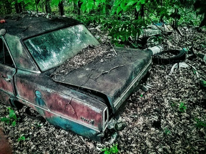 Abandoned Transportation Damaged Obsolete Old Run-down Discard Deterioration Bad Condition Mode Of Transport Dirt Road Destruction Outdoors Day Messy Wreck No People Weathered Lost In Time