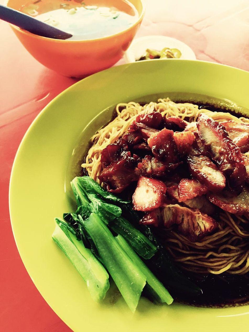 云吞麵 wantan mee Eating Food Photography First Eyeem Photo Food Porn Chinese Food Noodles IPhoneography Iphone 6