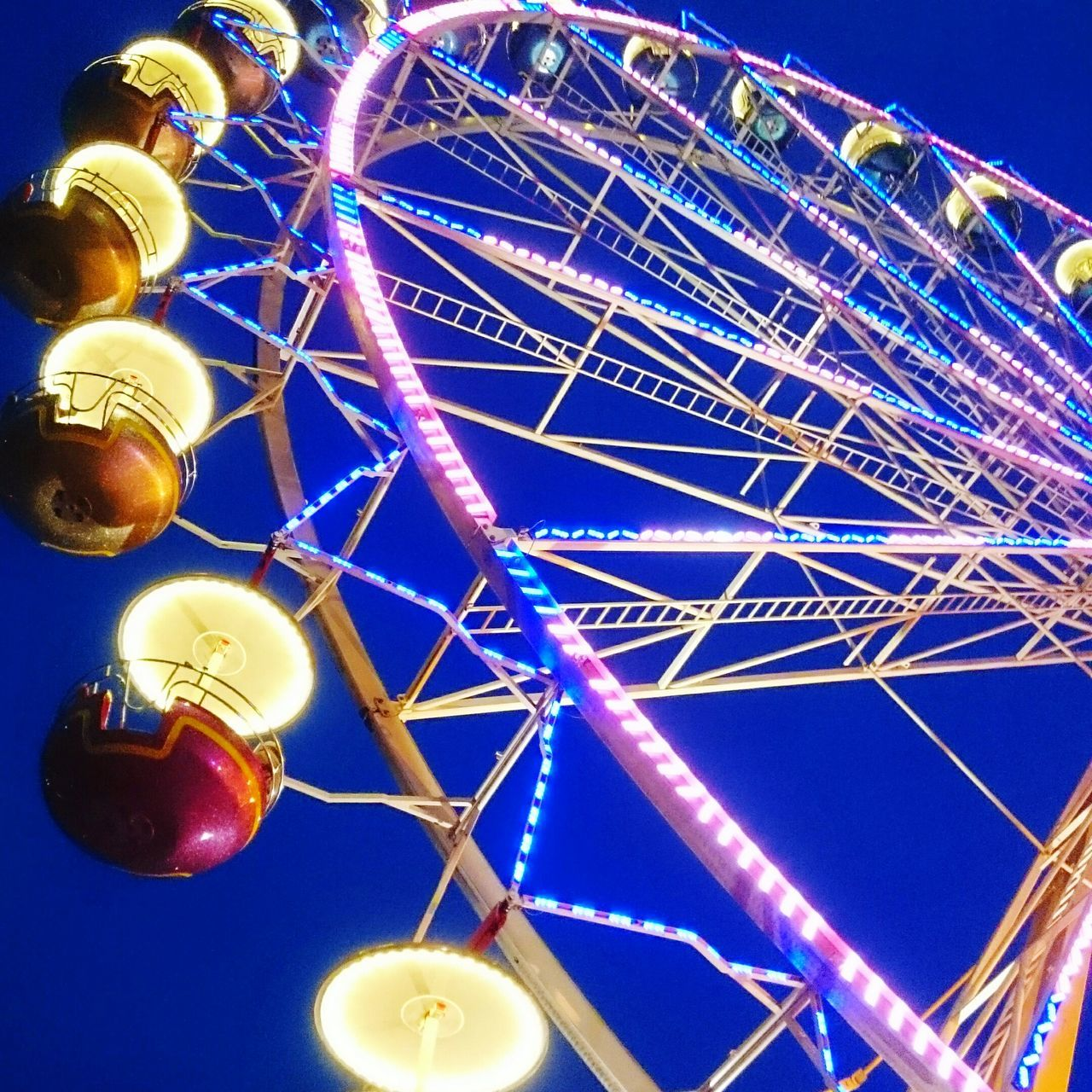 Ferris Wheel Blaue Stunde Kirmes Jahrmarkt Riesenrad Leipzigtrip