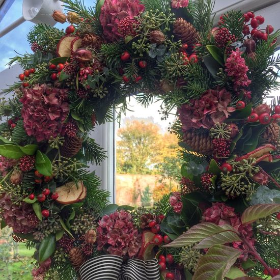 Getting ready for Christmas with a wreath-making workshop. November Christmas Autumn Christmas Decorations Flowers,Plants & Garden Flowerporn Suffolk Uk