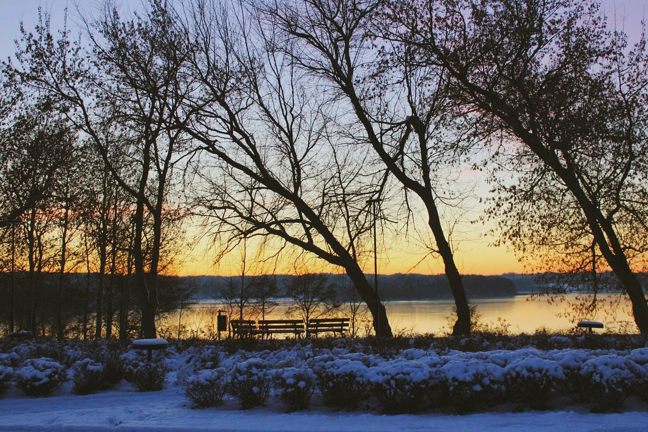 Winter Cold Sunset Sky Snow Beauty In Nature Outdoors Nature Lithuania Zarasai Evening