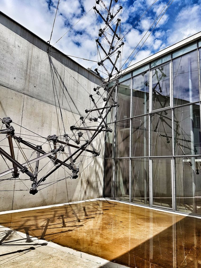 Day Sky Architecture Cloud - Sky Building Exterior Built Structure Outdoors No People Shadow Ladder To Heaven Himmelsleiter Jakob Ladder Steel Ropes Architecture Low Angle View