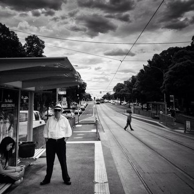 blackandwhite at Tram Stop 15 (55/59) by Jim McDonagh