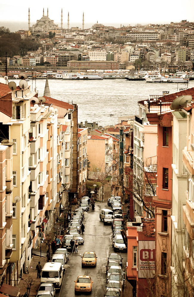 Architecture Bosphorus Building Building Exterior Built Structure Canal City City Life City Street Cityscape Day Diminishing Perspective Elevated View Istanbul Mode Of Transport No People Outdoors Residencial Residential District Sky Straight The Way Forward TOWNSCAPE Travel Destinations Turkey