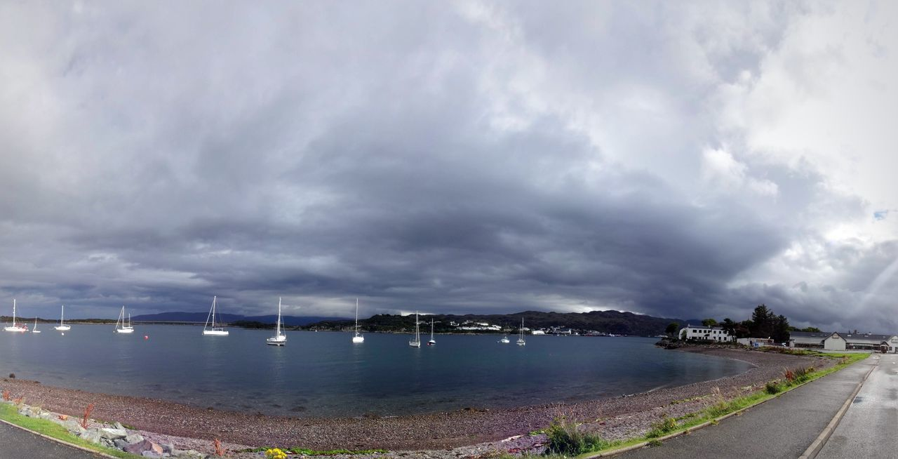 Isle Of Skye Kyle Of Lochalsh Panorama Sky Skye Stormy Stormy Weather