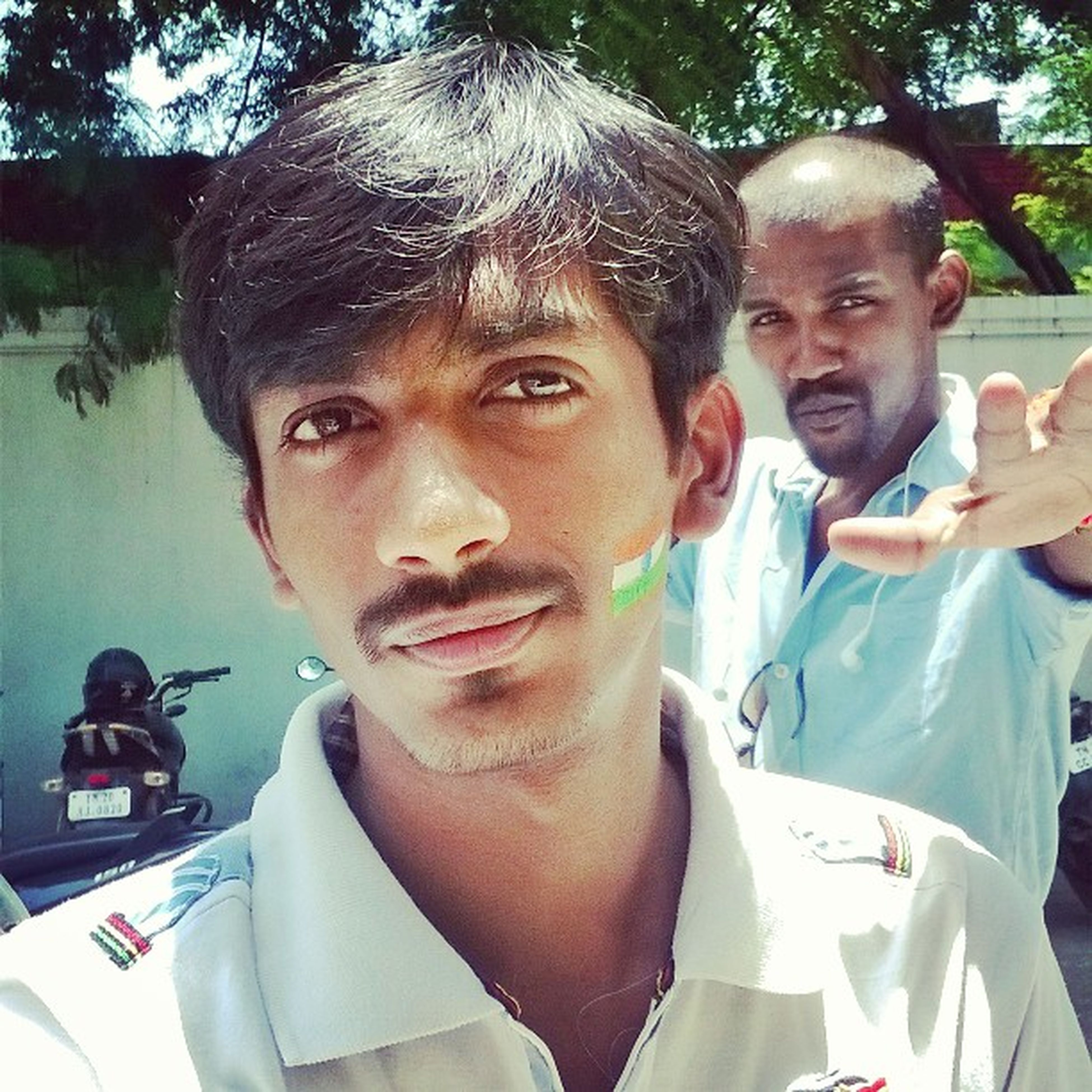 Taken by @natrajsubramanian Selfie wid my buddy Vinoth vino on Independence day celeb's at my offiz parkin lot Independenceday Aug15