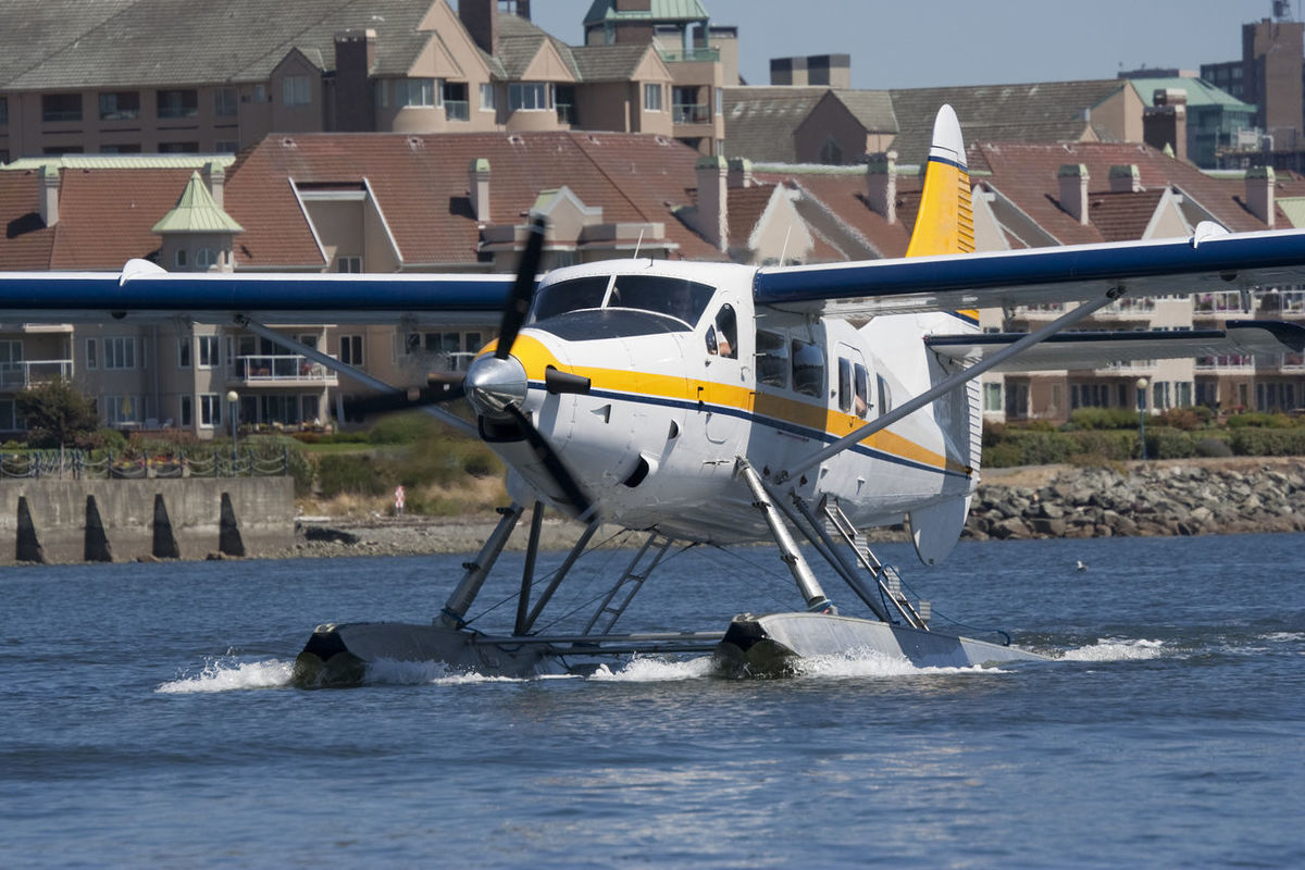 White Seaplane landing - Victoria, Vancouver Island, British Columbia, Canada Aerospace Industry Aircraft Airplane Building Exterior Canada Cessna Floating On Water Hydroplane Landing Occupation Passenger People Pilot Plane Propeller Propeller Airplane Public Transportation Sea Seaplane Transportation Unrecognizable Person Water Waterplane Working Workplace