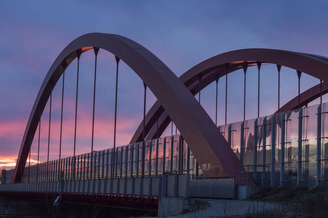 Arch Architecture Bridge Bridge - Man Made Structure Built Structure Connection Day No People Outdoors Sky Sunset Suspension Bridge Travel Destinations