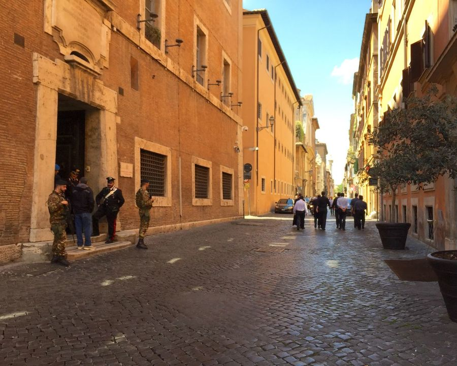 The Street Photographer - 2016 EyeEm Awards Street of Rome, Italy. Rome Italy Street Building Exterior Architecture Building City The Way Forward City Life Old Town Town Outdoors Residential District Residential Structure Group Of People Street Photography Via Giulia Cobblestone Alley Day Sky