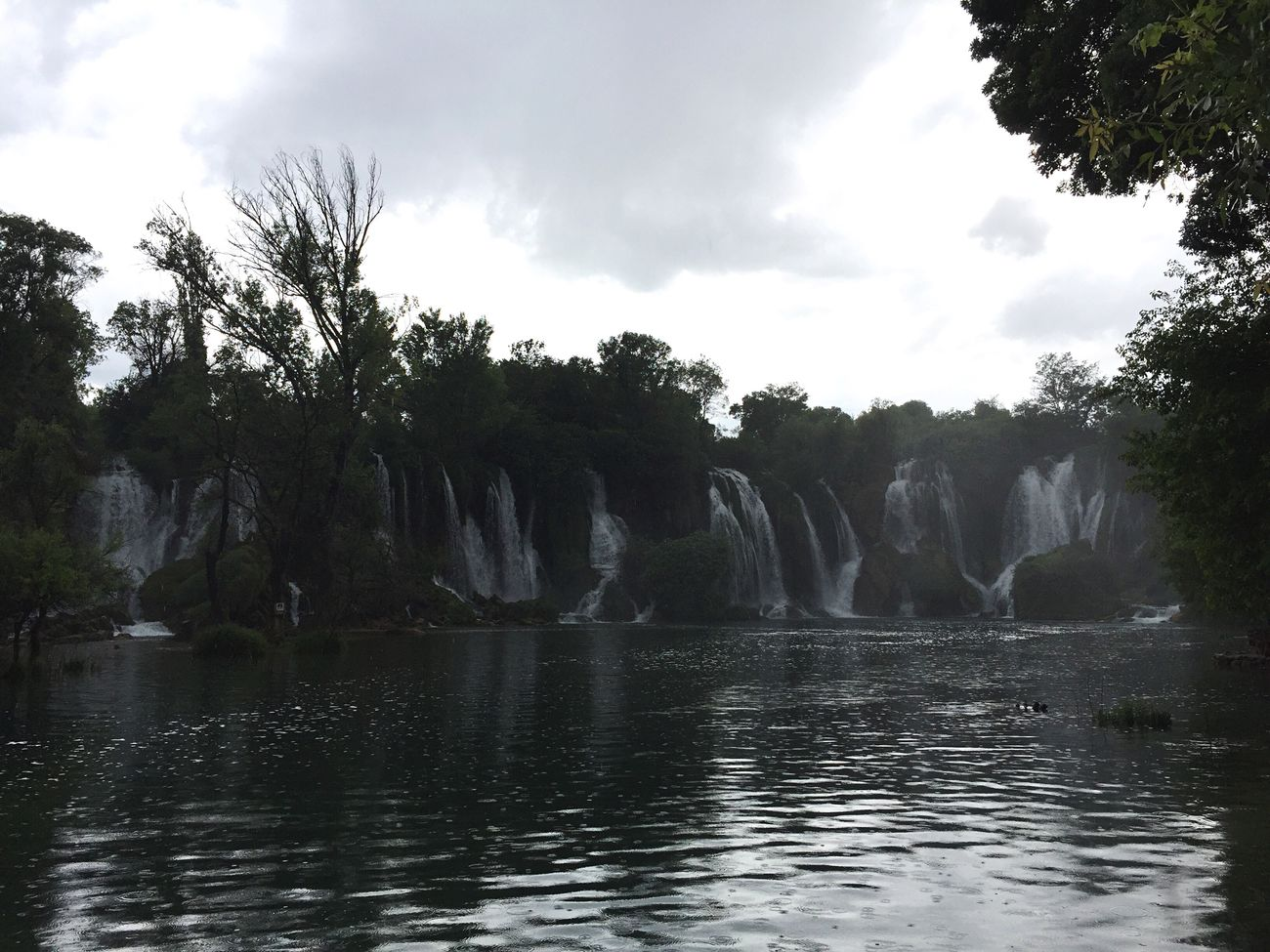 Kravica waterfalls in Bosnia is beautiful. It started raining but the rain didn't last long. A gem in a country that has suffered so much. Waterfall Beauty In Nature Kravica, Bosnia & Herzegovina