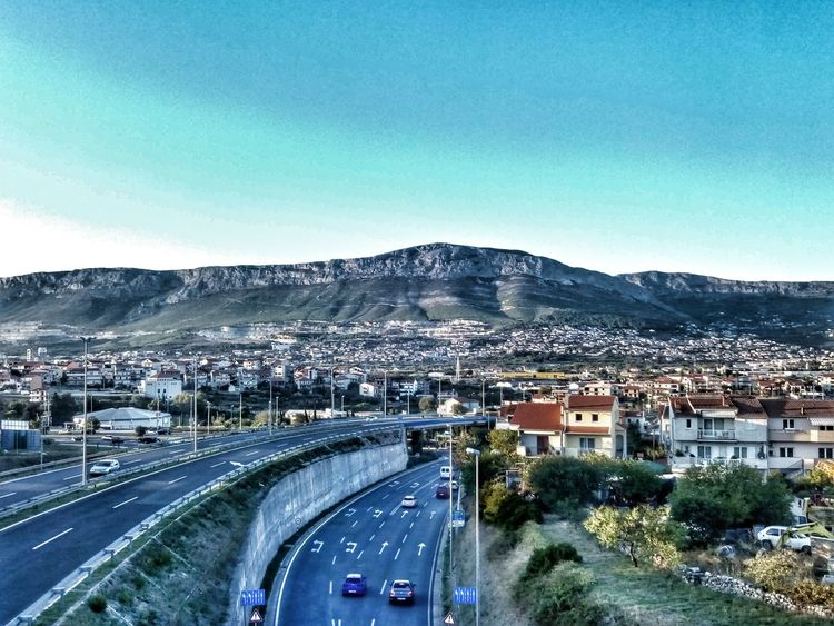 Road View From Above Mountain Love This City ❤ Adapted To The City Split Croatia ❤ 🚖🚕🚗🚙🚚🚘🚛🚍