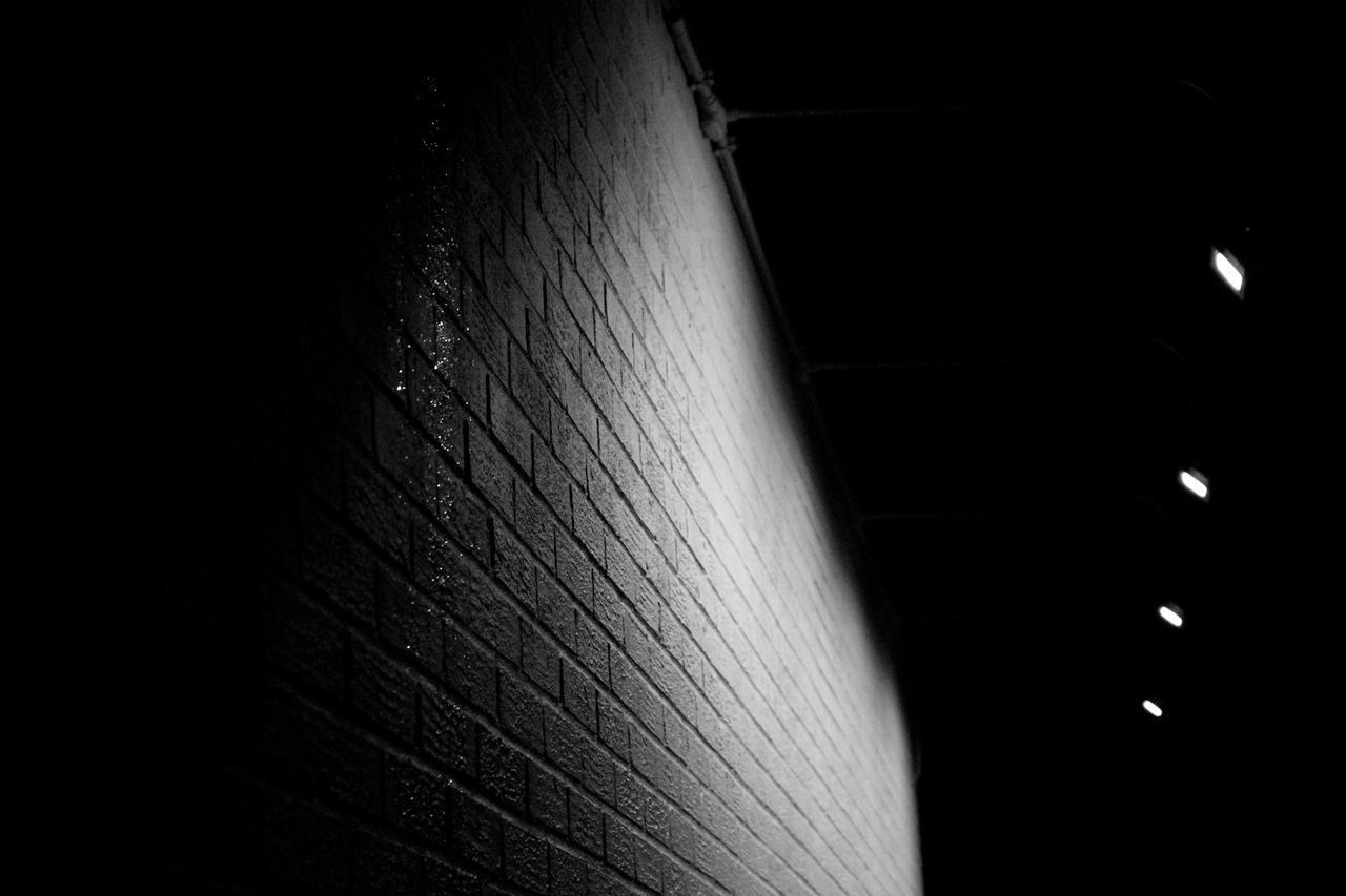 TheBlankCanvas - Blackandwhite Brick Club EyeEmNewHere Illuminated Night No People Spotlights BYOPaper! The Portraitist - 2017 EyeEm Awards Black And White