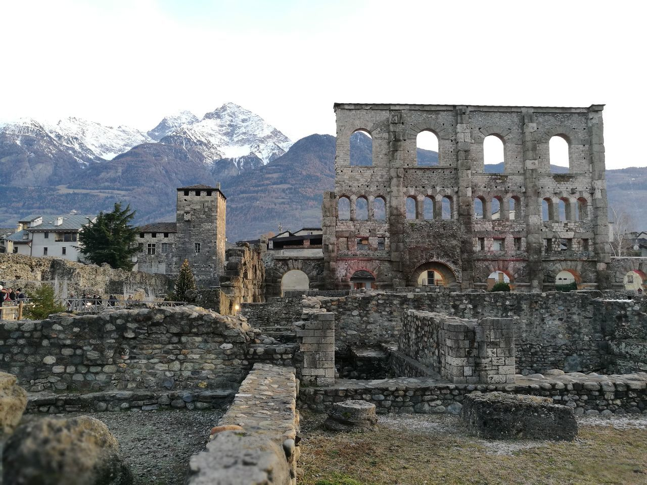 Antique Architecture Roman Aosta