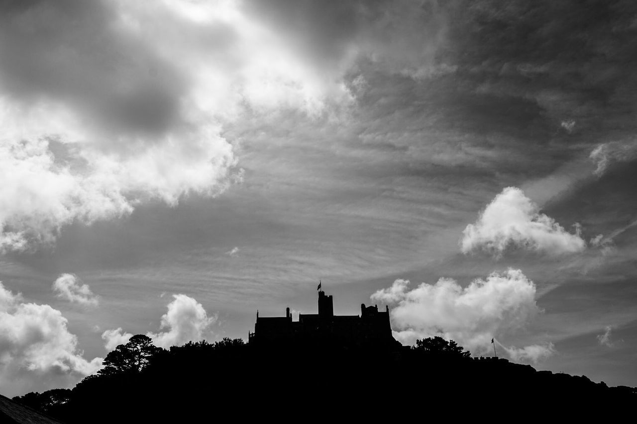 Historical Place Historical Building Sky And Clouds Shillouette Sky And Cloud Blackandwhite Black And White