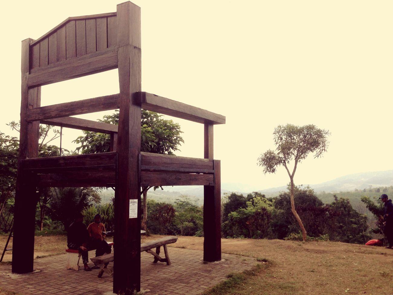 Giant Chair at Mountain Gumitir Mountains Traveling Gumitir Pesonajember Wonderful Indonesia INDONESIA Travel Travel Photography